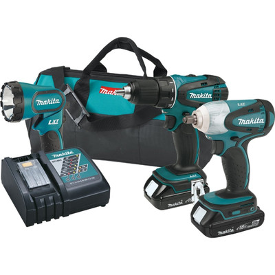 Makita XT311R 18V LXT Lithium-Ion Cordless Combo Kit, 3 Piece