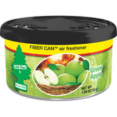 Car Freshner UFC-17816-24 Little Trees Air Fresheners Green Apple Fiber, 4 Pack