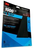 "3M 32021 Imperial Wetordry 9"" x 11"" 1000 Grit Sheet Sandpaper"