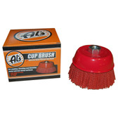 Al's Liner TOOR6 6 Inch Abrasive Nylon Bristle Cup Brush, 180 Grit