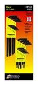 "Bondhus 22138 Hex L-Wrench Long & Short Combo Pack 1/16-1/4"", 20 Pc."