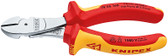 Knipex 7406160 High Leverage Diagonal Cutter Chrome Plated Insulted 1000V 6 1/4In