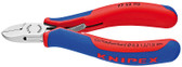 Knipex 7722130 Electronics Diagonal Cutter With Multi-Component Grips 5 1/4 In