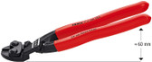 Knipex 7141200SBA Cobolt_Ç Compact Bolt Cutter, Angled Black Atramentized Plastic Coated 8 In