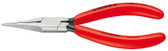 Knipex 3211135 Flat Nose Pliers (Needle-Nose Pliers) Black Atramentized Plastic Coated 5 1/4 In
