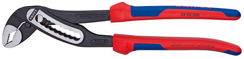 Knipex 8802300SBA Alligator_Ç Water Pump Pliers With Multi-Component Grips 12 In