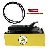Esco Equipment 10877C Yellow Jackit 5 Qt Metal Reservoir Air Hydraulic Pump Kit