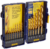 Irwin 4935607 Titanium Coated High-Speed Steel Drill Bit Set, Pro Case, 15-Piece