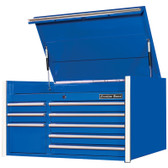 "Extreme Tools RX412508CHBL RX Series 41"" 8-Drawer Top Chest - Blue"