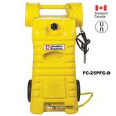 John Dow FC-25PFC-D Poly Diesel Fuel Cart, 25 gallon