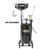 John Dow JDI-20COMBO 20-Gallon Combination Fluid Evacuator and Oil Drain