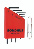 Bondhus 12242 5pc Micro Mini Hex L Wrench Set Metric 2mm to .71mm