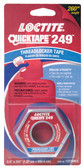"Loctite 2096082 QuickTape 249 Medium Strength Blue Threadlocker, 260"" Length"