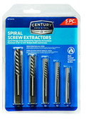 Century Drill 73415 Spiral Flute Screw Extractor Set, 5-Piece