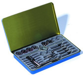 Century Drill 98902 National Coarse Fractional Tap and Die Set, 14-Piece