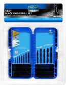 Century Drill 24713 Black Oxide High Speed Steel Drill Bit Set, 13 Piece