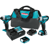 Makita CT324 12V max CXT Lithium-Ion Cordless 3-Pc. Combo Kit (1.5Ah)