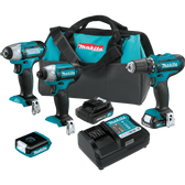 Makita CT410 12V max CXT Lithium-Ion Cordless 4-Pc. Combo Kit (1.5Ah)