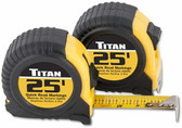 Titan Tools 10901 25' Quick-Read Tape Measure (2 Pack)