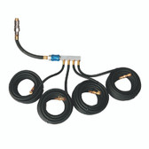 Esco Equipment 10967 Four-Way Manifold Hose Set  4 Hoses (25 ft.)