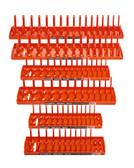 "Hansen Global 92002 6pc Metric SAE Socket Holder Set 1/4"", 3/8"" and 1/2"", Orange"