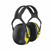 3M X2A Peltor X-Series Over-the-Head Earmuffs, NRR 24 dB, Black/Yellow