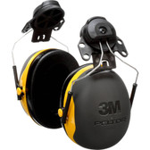 3M X2P3E XSeries CapMount Earmuffs, NRR 24 dB, One Size Fits Most, Black/Yellow
