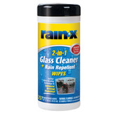 Rain-X 630022 2-in-1 Glass Cleaner and Rain Repellent Wipes - 25 Count