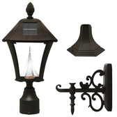 Gama Sonic GS-105FPW-BW Baytown II Solar LED outdoor light fixture, Black