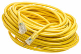 Yellow Jacket 2885 12/3 SJTW 100' Extension Cord With Lighted Receptacle, Yellow