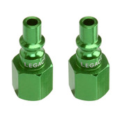 "ColorConnex A71430B-2PK Type B ARO Plug, 1/4"" Body x 1/4"" FNPT -Green (2 Pack)"