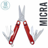 Leatherman 64330101K Micra 10-in-1 Multi-Tool, Red