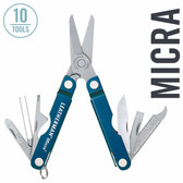 Leatherman 64340101K Micra 10-in-1 Multi-Tool, Blue