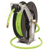 Flexzilla L8741FZ Retractable Open Face Dual Arm Air Hose Reel, 1/2 in. x 50 ft