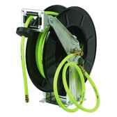Flexzilla L8711FZ Retractable Open Face Dual Arm Air Hose Reel, 3/8 in. x 50 ft