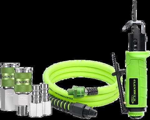Flexzilla AT8565FZ Pro Reciprocating Mini Air Saw Kit, with 3/8? x 6? Whip Hose