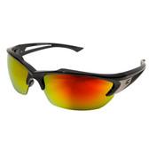 Edge Eyewear SDKAP119 Khor Safety Glasses - Black Frame - Red Mirror Lens