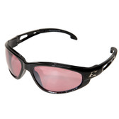 Edge Eyewear SW119 Dakura Safety Glasses - Black Frame - Pink Mirror Lens