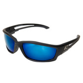 Edge Eyewear TSKAP218 Kazbek Safety Glasses - Black Frame - Blue Lens