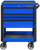 """Extreme Tools EX3304TCBLBK 33"""" 4 Drawer Deluxe Series Tool Cart - Blue"""