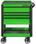 """Extreme Tools EX3304TCGNBK 33"""" 4 Drawer Deluxe Series Tool Cart - Green"""