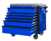 """Extreme Tools EX4106TCSBLBK 41"""" 6 Drawer Deluxe Series Sliding Top Cart, Blue"""