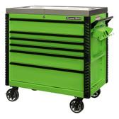 "Extreme Tools EX4106TCSGNBK 41"" 6 Drawer Deluxe Series Sliding Top Cart, Green"