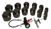 Lisle 69910 Turbo Air System Test Kit w/Smoke Adapter, 14pc.