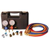 FJC 6855 R-1234yf/R-134a Dual Aluminum Manifold Gauge Set
