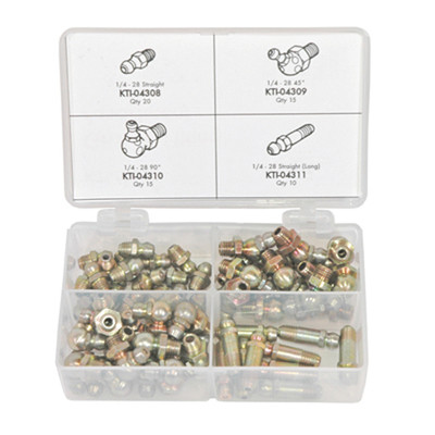 K Tool 00023 Grease Fitting Kit (SAE)- 60 Piece