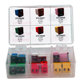 K Tool 00045 Low Profile Jcase Fuse Assortment - 6 Different Amp Sizes - 12 Piece
