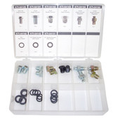 K Tool 00059 Drain Plug Assortment, 27-piece kit featuring nine types of oversize drain plugs and gaskets