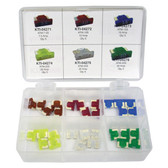 K Tool 00068 Low Profile Mini Fuse Assortment - 7 Different Amp Sizes 35 Piece