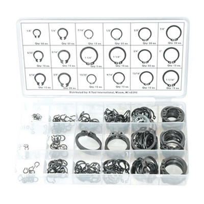 K Tool 00077 Snap Ring Assortment- 300 Piece 18 Different Sizes